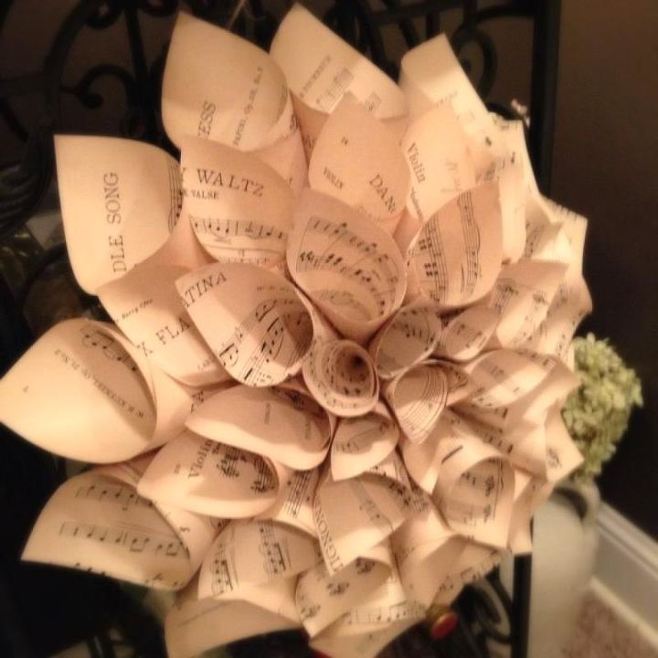 I like to make the cones so the name of the page shows. This paper was especially pretty as it had some age and wear.