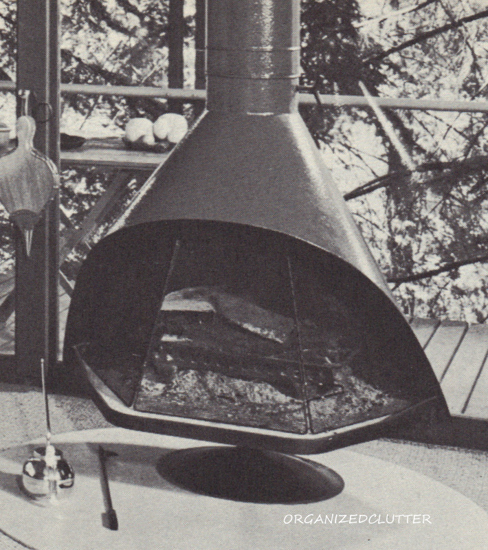 I had one of these free standing fireplaces in the basement of my first house.  I think it was orange.