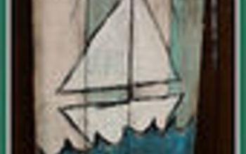 FREE Beachy Summer Pallet ART  #ReclaimedWood http://www.hometalk.com/3927910/vintage-anchor-nautical-coastal-dres