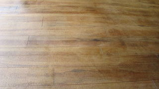 q can you have a concrete floor that looks like hardwood, concrete masonry, flooring, hardwood floors, home decor, barnwood