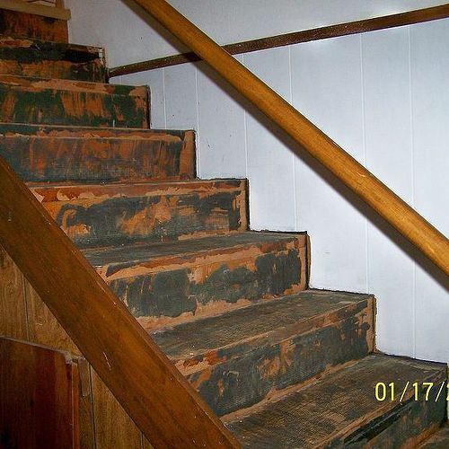 basement stairs. I Took Old Carpet Off Basement Stairs And Now Need Advice Badly! | Hometalk E
