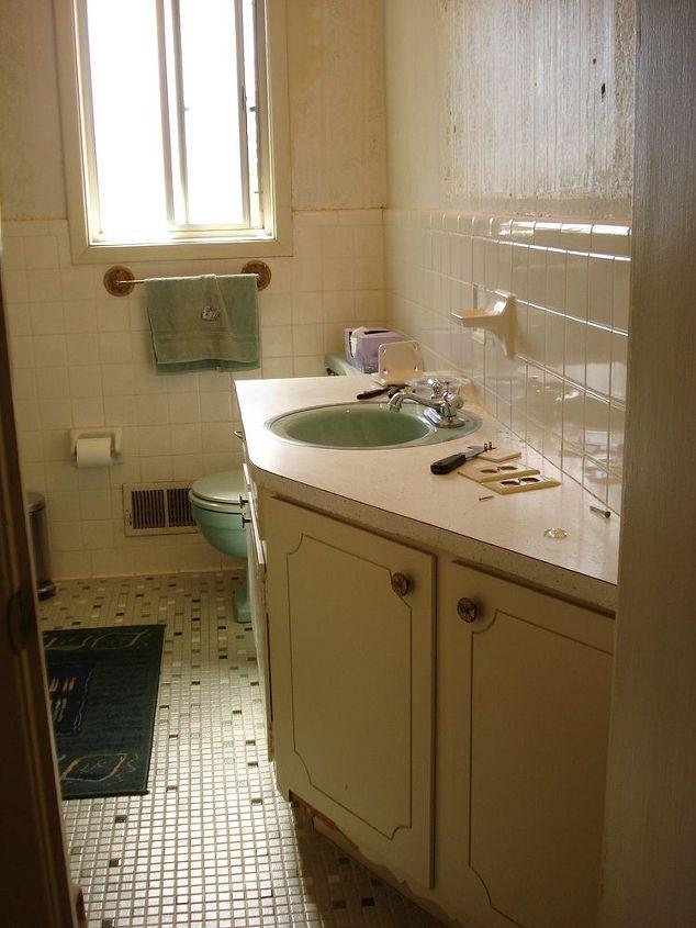 renovated 60 s bathroom, bathroom ideas, doors, home improvement, Before 1