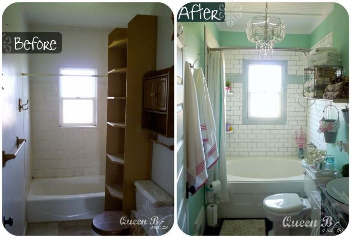 small bathroom remodel on a budget, bathroom ideas, home decor, small  bathroom ideas
