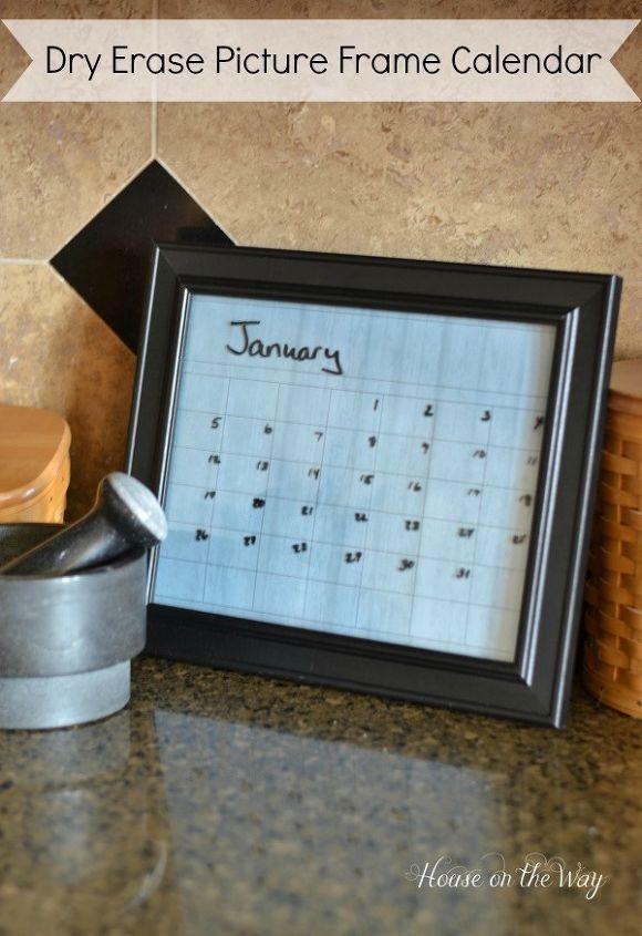 Diy Dry Erase Picture Frame Calendar Hometalk