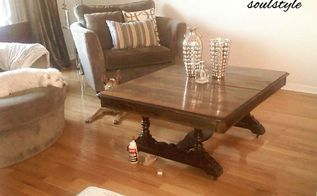 dining table to coffee table, painted furniture