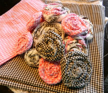 creating fabric roses using two different fabrics, crafts