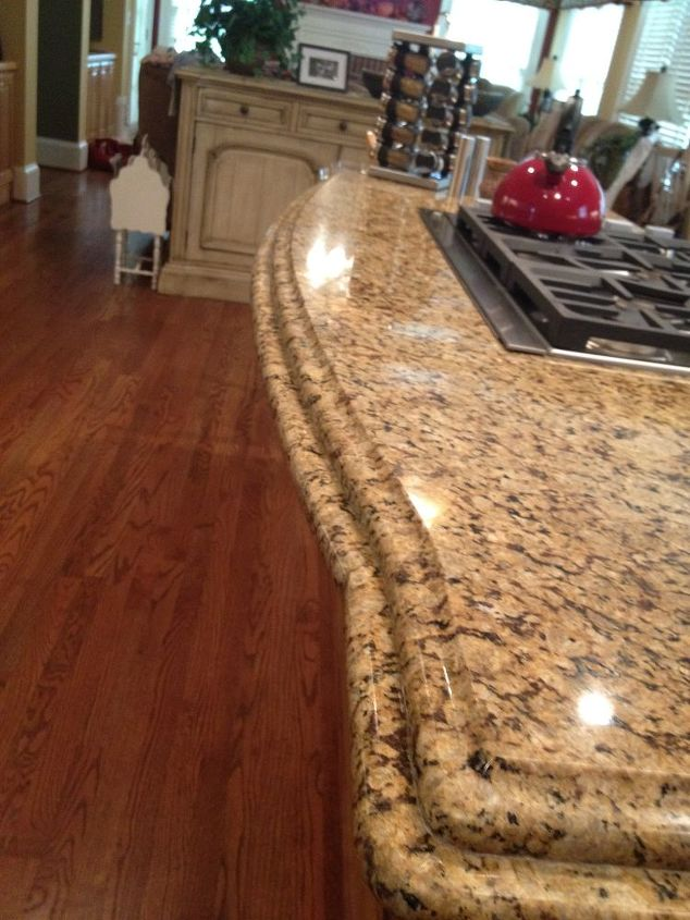 granite counter tops with a double ogee edge, countertops