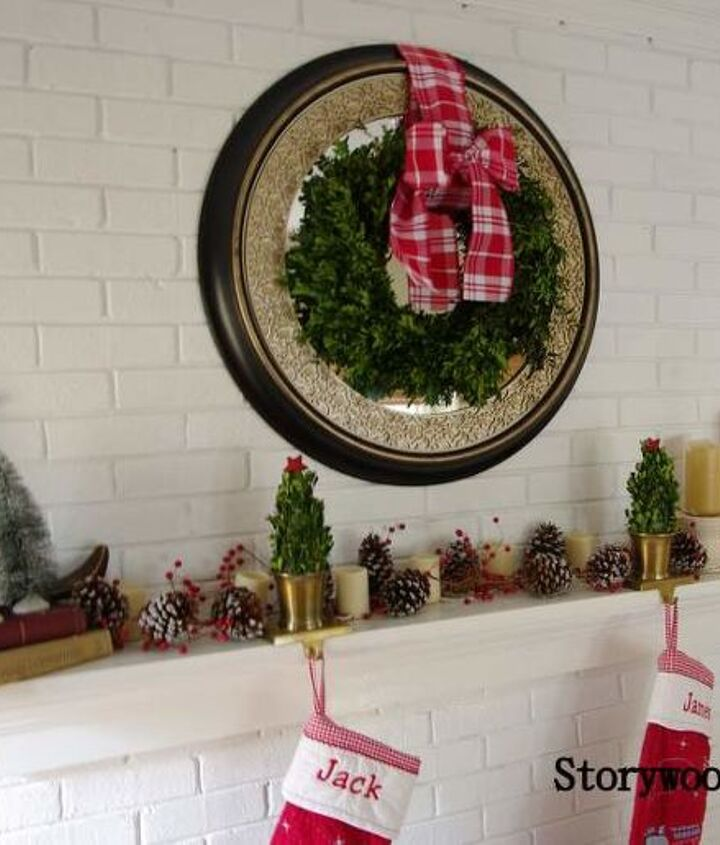 My favorite - a boxwood wreath with its gingham now.