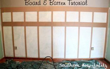 diy tutorial for board amp batten, dining room ideas, home decor, Board Batten installed