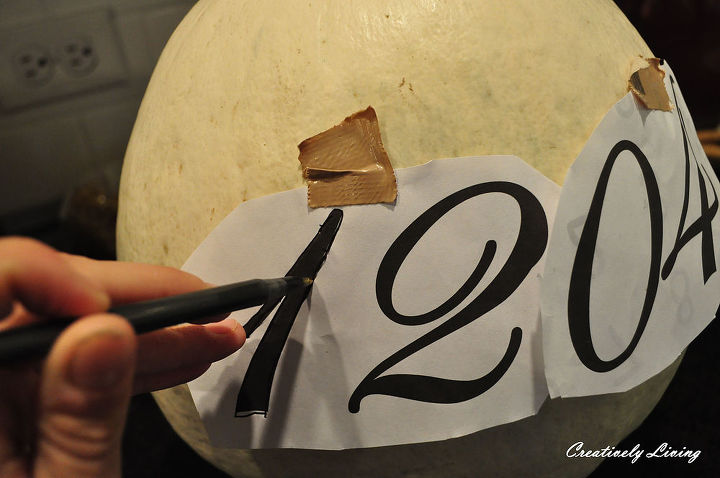 house number pumpkins, curb appeal, painting, seasonal holiday decor
