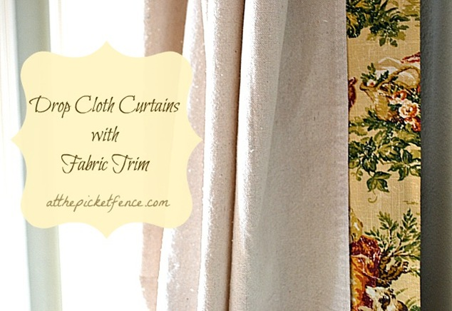how to make drop cloth curtains with a no sew fabric edge, crafts, reupholster, window treatments