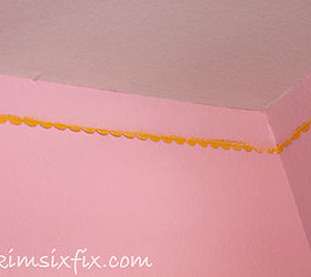 A Painted Faux Eyelet Border Instead Of Crown Molding, Bedroom Ideas, Paint  Colors,