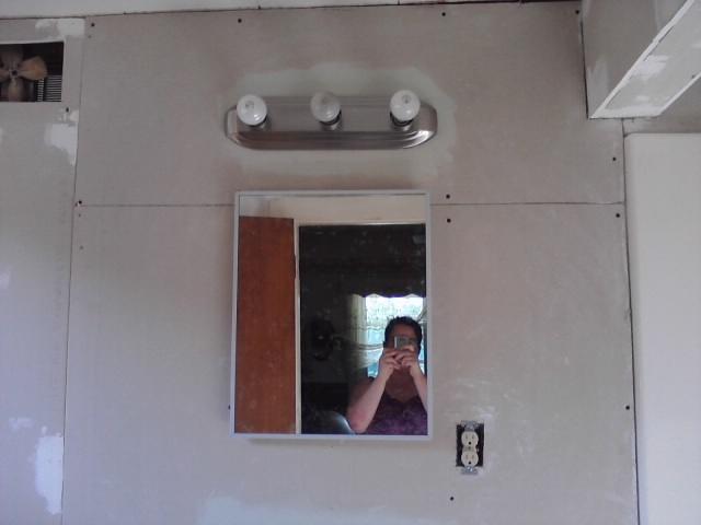 New mirror & lighting