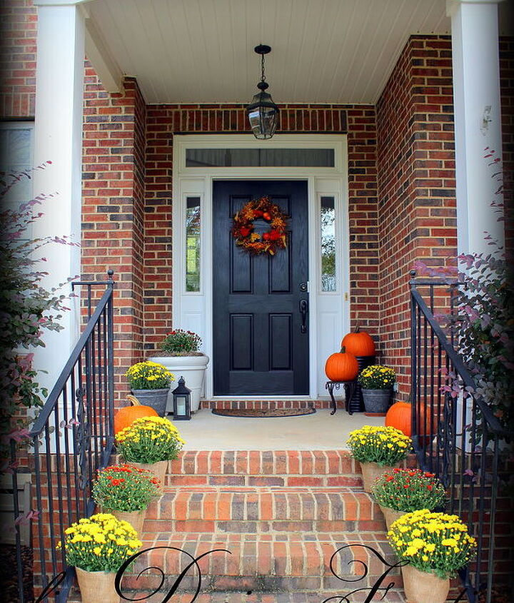 fall front porch, gardening, seasonal holiday d cor
