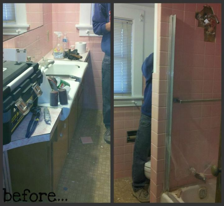 before and afters of the bathroom upstairs we ve still got a few finishing touches, bathroom ideas, home improvement, before