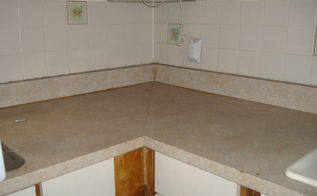 q any suggestions for installing laminate counter tops, countertops, Old counter top 45 degree seam that scares me