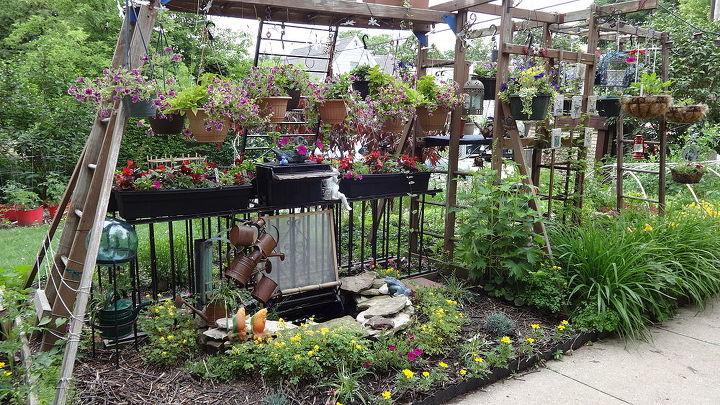wooden playset conversion, gardening, repurposing upcycling