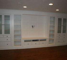 Wall Of Built Ins Out Ikea Hemnes Cabinets Hometalk
