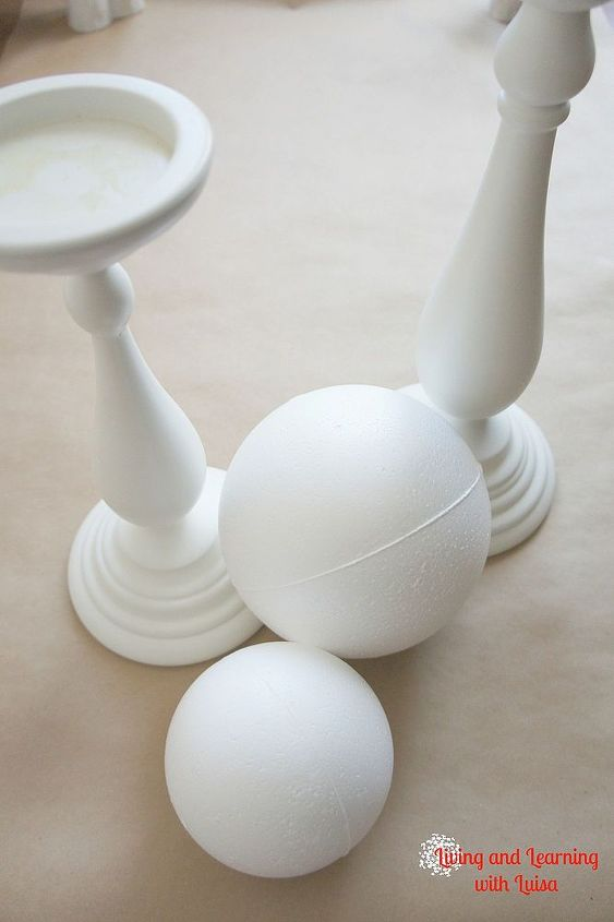 Started with a candlestick and a foam ball.