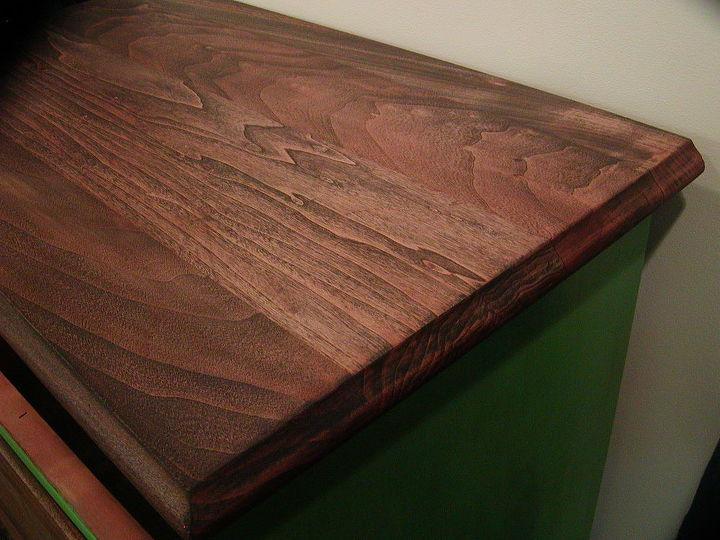 Not a bad wood grain for a lesser quality wood. Stained in Minwax Jacobean stain and seal.
