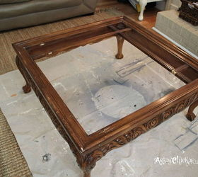 Thrift Store Coffee Table Turned Diy Tufted Ottoman, Chalk Paint, Diy, Painted  Furniture
