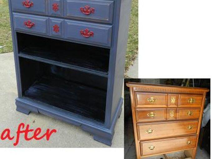 dresser w a broken drawer gets an update, chalk paint, painted furniture