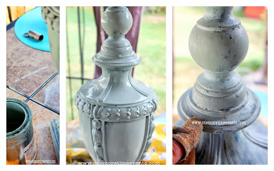 adding old lamps to your outdoor spaces, gardening, outdoor living, repurposing upcycling