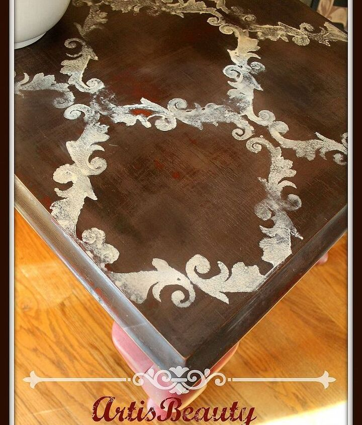 1 table makeover from trashed to treasured, home decor, painted furniture