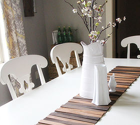 Diy Wood Shim Table Runner For Under 8, Crafts, Home Decor, Repurposing  Upcycling