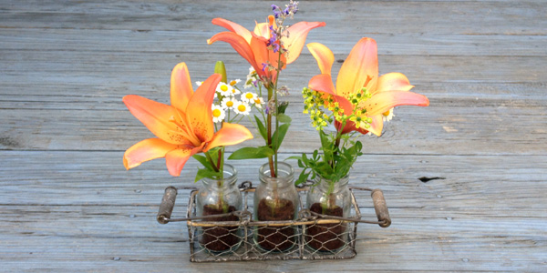 coffee used grounds and mason jar flower vase, crafts, flowers, gardening, mason jars, repurposing upcycling