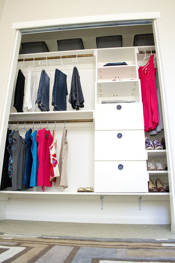 Diy closet kit for under 50 hometalk for Extra closet storage