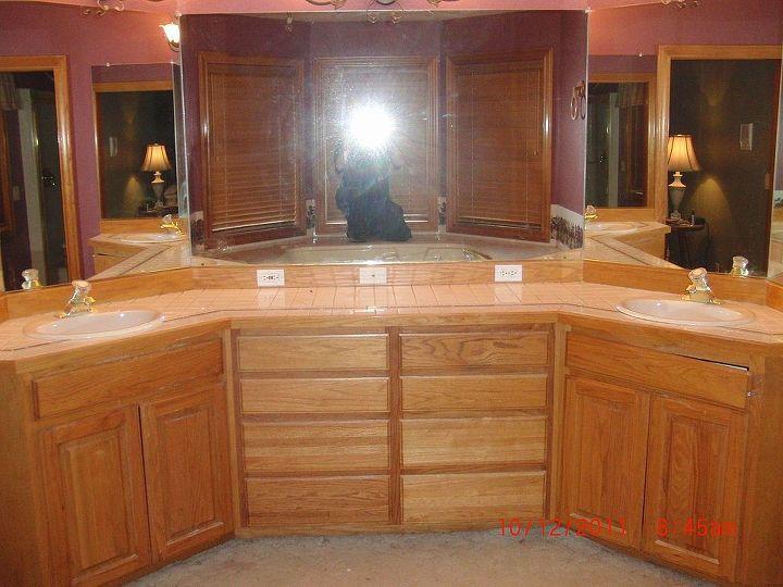 the death of an ugly bathroom vanity, bathroom ideas, home decor, painted furniture, Custom built bathroom vanity