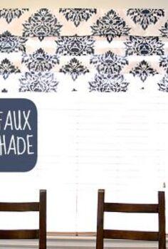diy stenciled no sew faux roman shade, home decor, reupholster, window treatments, DIY Stenciled No Sew Faux Roman Shade