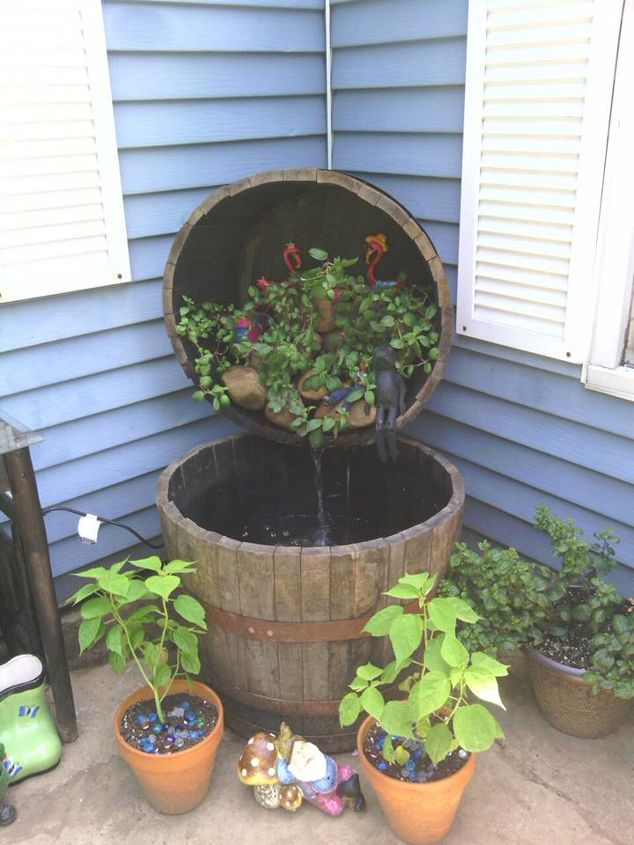 q fountain, diy, gardening, how to, outdoor living, ponds water features, repurposing upcycling