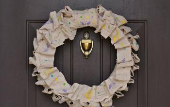 Spring Wreath with FolkArt Enamels Stencils