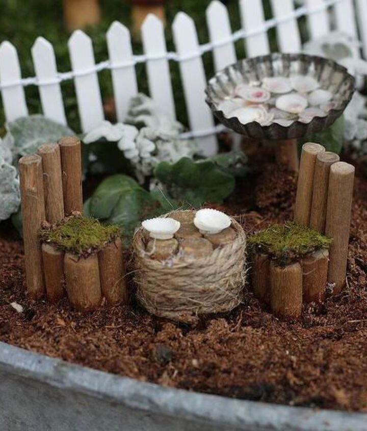 Although ready made items can be found online or in garden centers, we chose to make as many of the elements as we could.