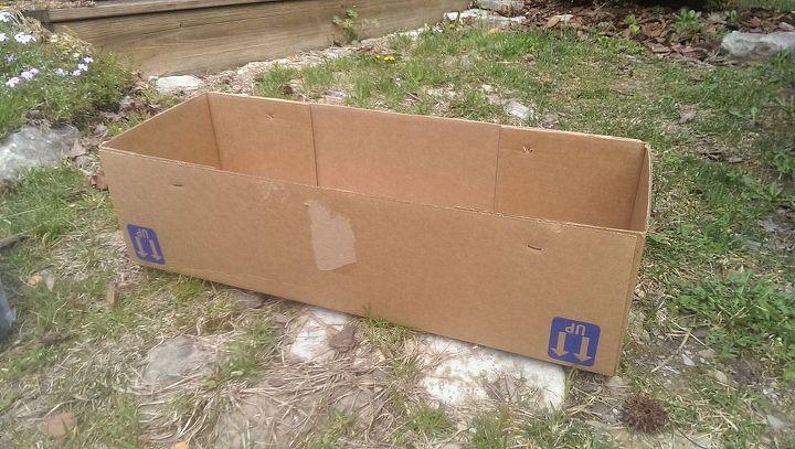 cardboard planter, crafts, gardening, repurposing upcycling