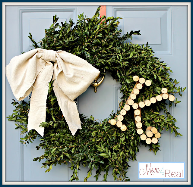 Monogrammed Boxwood Wreath
