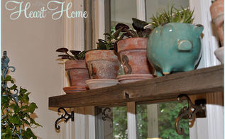 rustic pallet shelf, home decor, pallet, repurposing upcycling, shelving ideas, I knew he d make it work Gotta love repurposed planks xo