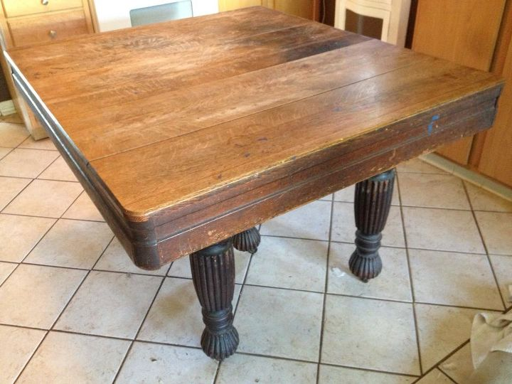 old family table redux, chalk paint, painted furniture