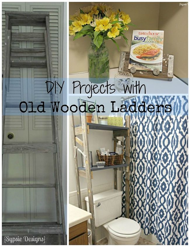 Two Upcycled Projects From One Old Ladder | Hometalk