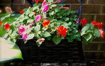 Use Impatiens And Baskets To Get A Quick Gorgeous Garden Look