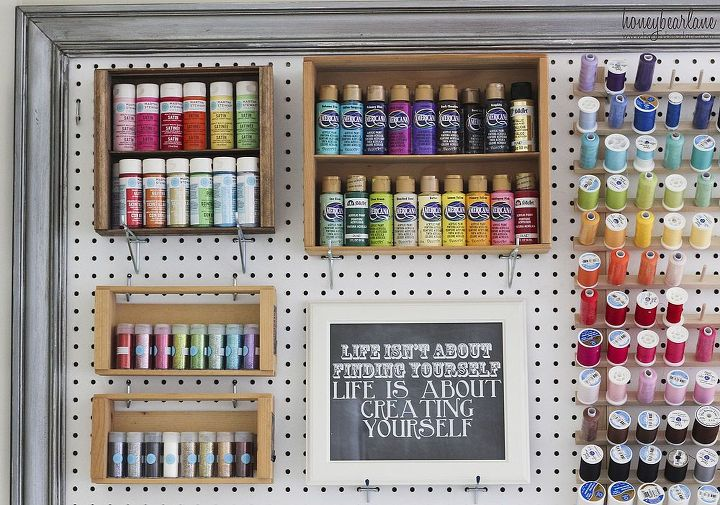 craft room organizational pegboard, cleaning tips, craft rooms, organizing