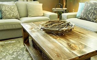 diy rustic coffee table with storage in about 3 or 4 days, diy, painted furniture, rustic furniture, woodworking projects, It just fits the room perfectly