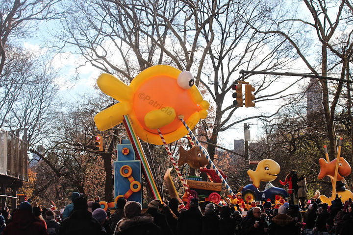 """An unidentified school of fish """"march"""" (swim out of water) in Macy's 2013 Thanksgiving Parade. View Three (at CPW). Image featured @  https://www.facebook.com/media/set/?"""