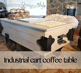 Industrial Cart Coffee Table Make Over, Painted Furniture, Repurposing  Upcycling, Woodworking Projects, ...