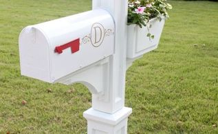 quick easy mailbox makeover, curb appeal, diy, Vinyl monogram decal via etsy added for a little extra charm We are so happy with our new mailbox