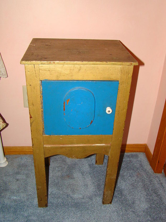 a long overdue paint transformation on a bedside stand, chalk paint, painted furniture