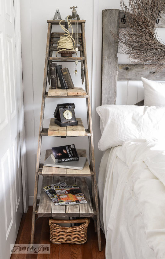 Tight for Space for a Side Table? Go UP With a Ladder! | Hometalk