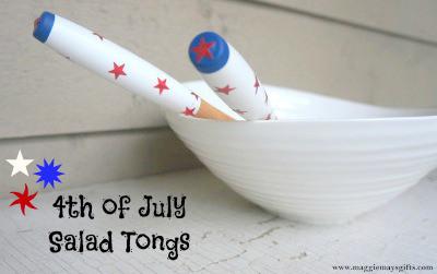 4th of july salad tongs, crafts, decoupage, seasonal holiday decor